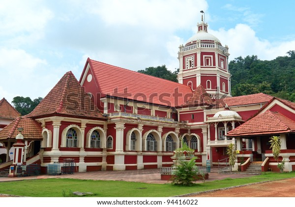 Shri Shantadurga,famous hindu Temple in Ponda .Goa.The  temple  was built in 1728 AD. This is combination of Indian and Portuguese architecture.