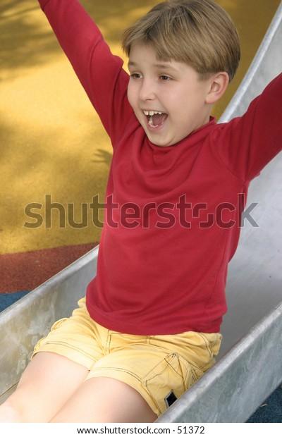 Shrieks and shrills on the slippery slide