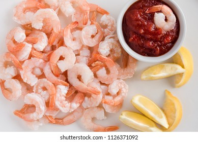 Shrimp Appetizer with Cocktail Sauce