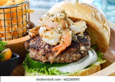 Shrimp and beef burger