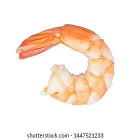 Shrimp of boiled prawn seafood isolated white background