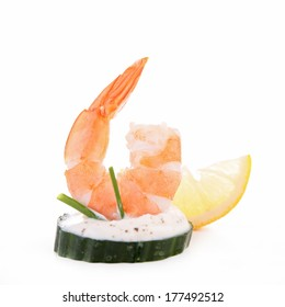 shrimp canape