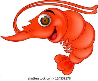 shrimp cartoon images stock photos vectors shutterstock rh shutterstock com Swimp Brine Cartoon Brine Shrimp