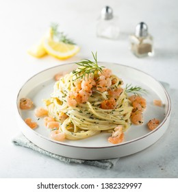 Shrimp dill pasta with cream cheese