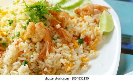 Shrimp fried rice ,Thai food