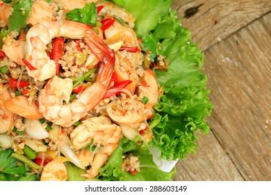 Shrimp glass noodles salad - Asia food