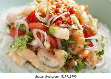 A shrimp and noodle salad from Thailand