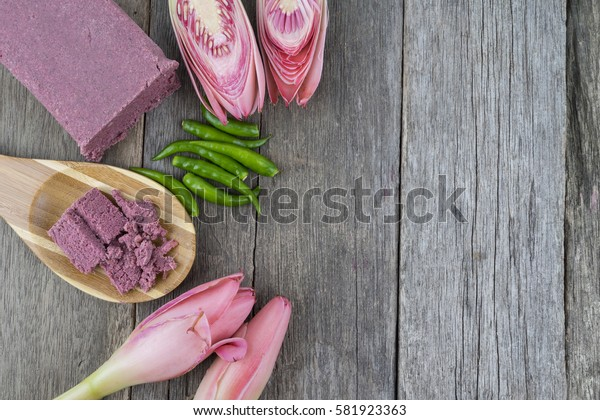 Shrimp paste (Belacan). Shrimp paste are the main ingredients to make a splice, is also often used as a flavoring ingredient in Asian cuisine, especially Malaysia and Indonesia.