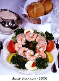 Shrimp Salad with bread