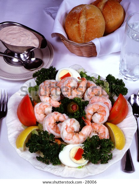 Shrimp Salad with bread