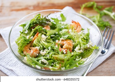 shrimp salad with cheese for heathy
