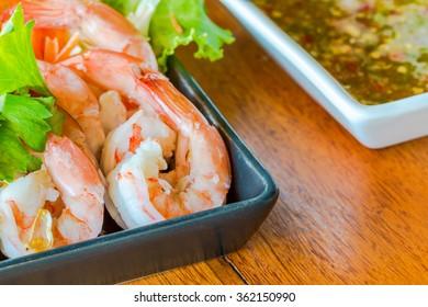 Shrimp salad seafood