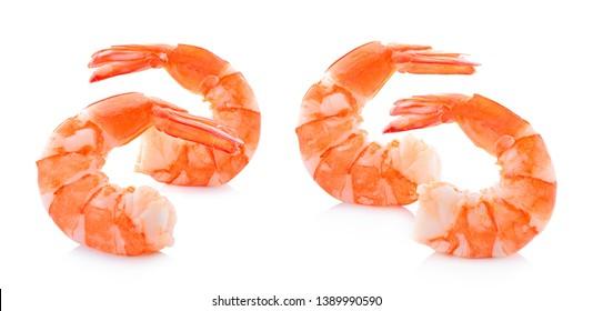 Shrimp set isolated on white background