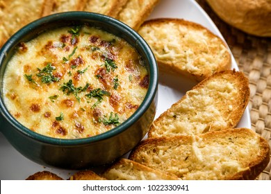 Shrimp & Spinach dip with bread