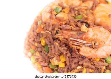 Shrimp Stir Fry Rice, Traditional Chinese Food,