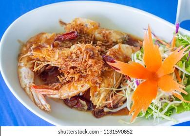 Shrimp with tamarind sauce
