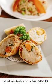 shrimp and yolk roll