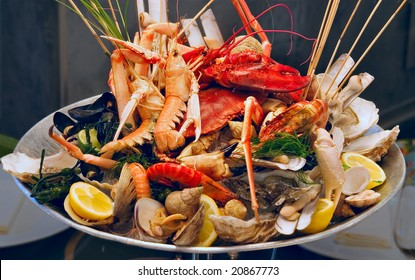 Shrimps on the plate