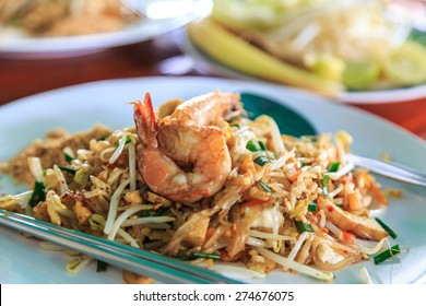 Shrimps Pad Thai (Thailand's national dishes)