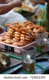 Shrimps satay in Malioboro, Yogyakarta.