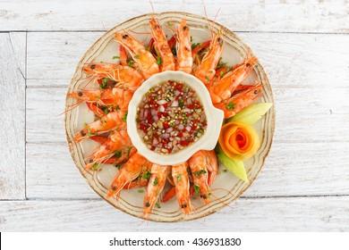 Shrimps with Seafood Chili Sauce