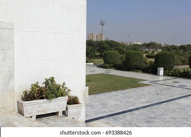 Shrine of Founder of Pakistan Jinnah Mausoleum or The final resting place of Quaid-e-Azam Muhammad Ali Jinnah independence day Monument landmark