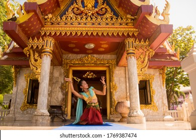 the Shrine of King Taksin in the town of Tak in the Province of Tak in Thailand.   Thailand, Tak, November, 2019