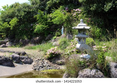 "Shrine of Mary acculturized with Japanese style ""toro"", in Trappist Complex. Taken in Oita, April 2019"