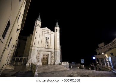 Shrine of St. Rita of Cascia in Umbria, Italy. Cascia city before the earthquake in central Italy
