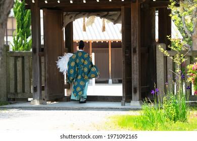Shriners at shrines in the Shikoku region of Japan.