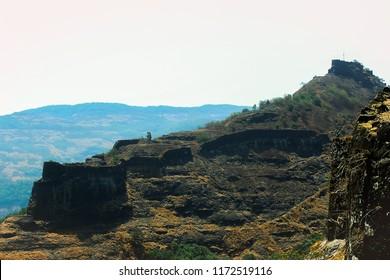 Shriwardan fort at Rajmachi Forts, Lonavala. The fort of Shivaji Maharaja.