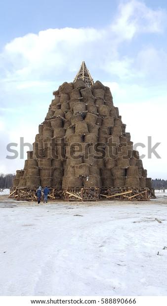 Shrovetide, Kaluga, Nikola-slothful, in February 2017, winter, Russia, Russian holidays,