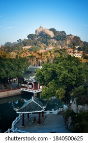 Shu Zhuang Garden with traditional Chinese architecture in Gulangyu, Xiamen, Fujian, China.