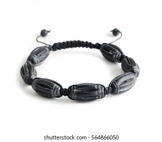 Shungit bracelet isolated on white background