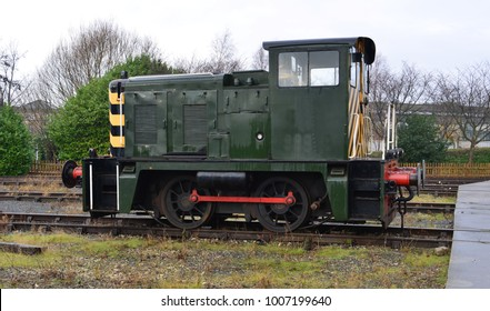 A Shunter at a Fiddle yard in the UK