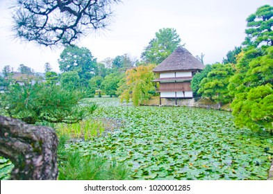 Shurakoen Japanese garden in Tsuyama, Okayama, Japan