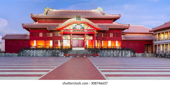 Shuri Castle. Was clearly in use as a castle during the Sanzan period (1322 - 1429). Probably built during the Gusuku period, like many other castles of Okinawa. Japan.