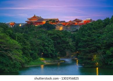Shuri castle, a Ryukyuan gusuku in Shuri, Okinawa