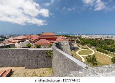 Shuri Castle or Shurijo Castle, Landmark in Naha city at Okinawa Japan