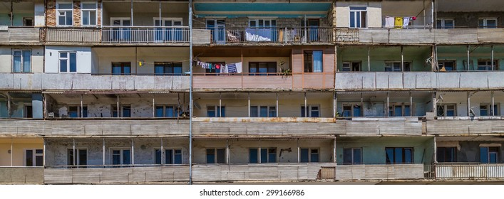 Shushi, Armenia - July 19 2015 - Building