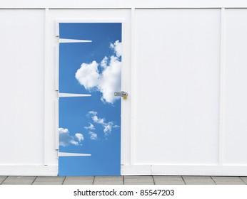 Shut sky door with a padlock white wall building  sc 1 st  Shutterstock & Shut Door Images Stock Photos u0026 Vectors | Shutterstock