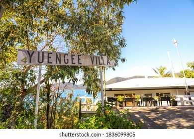 Shute Harbour, Queensland / Australia - August 2 2019: Apartment villa on edge of cliff in the beautiful Whitsundays