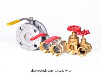 Shut-off valve, valve or stop valves, water valve. Pipeline fittings system