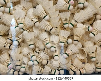 A lot of shuttercocks  for badminton