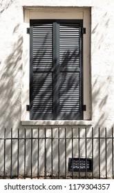 Shuttered window in New Orleans