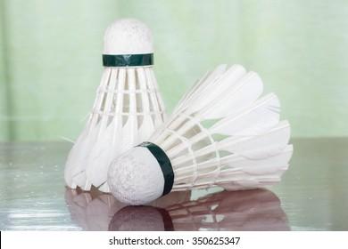 Shuttlecock for badminton game.