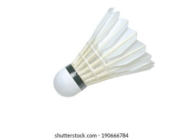 The shuttlecock isolated on the white background