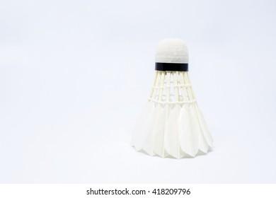 shuttlecock isolated on white background