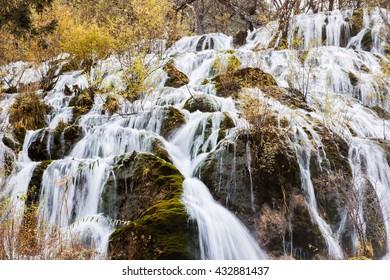 Shuzheng waterfall nature landscape jiuzhaigou scenic in Sichuan, China