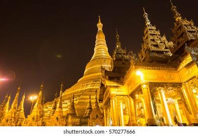 Shwedagon pagodais  the most famous pagoda of southest Asia, Yangon, Myanmar